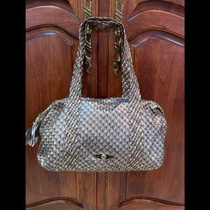 ELLIOT LUCCA woven leather handbag in metallics!!
